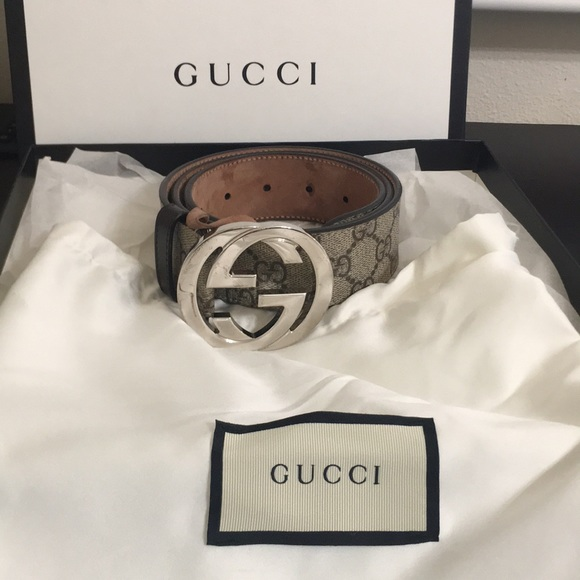 ec0ddc015 Gucci Accessories | Gg Supreme Belt With G Buckle 100 Authentic ...